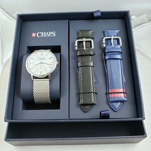 CHAPS MENS Dunham Stainless-Steel Watch